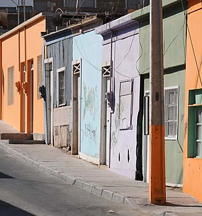 chile, arica, colorful buildings
