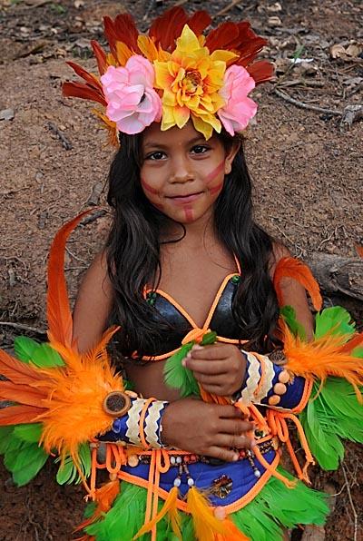 brazil, boca da valeria, ceremonial costumes