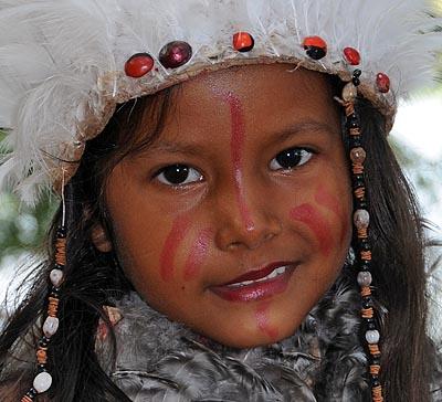 brazil, boca da valeria, ceremonial face paint