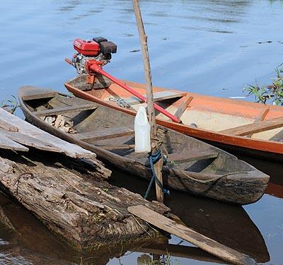 brazil, boca da valeria, villiage boats
