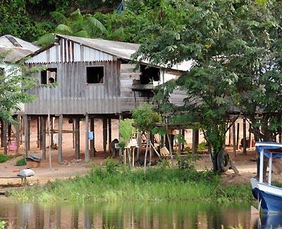 brazil, boca da valeria, waterfront houses