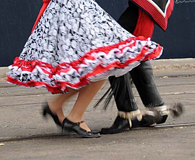 chile, coquimbo, dancers
