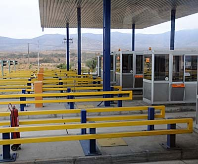 chile, coquimbo, toll booths