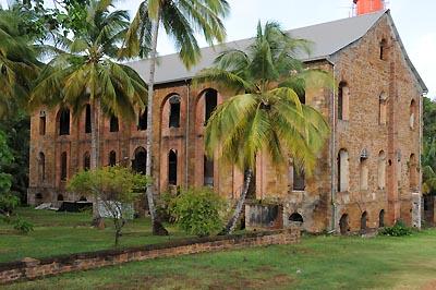 devils island, prison hospital remains