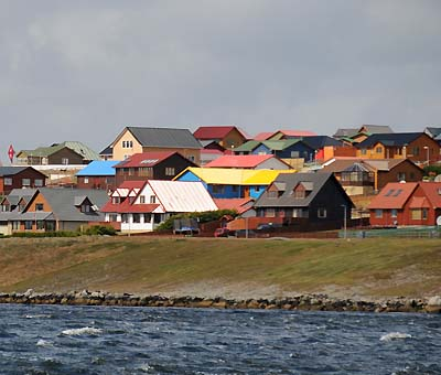 falkland islands, colorful roofing