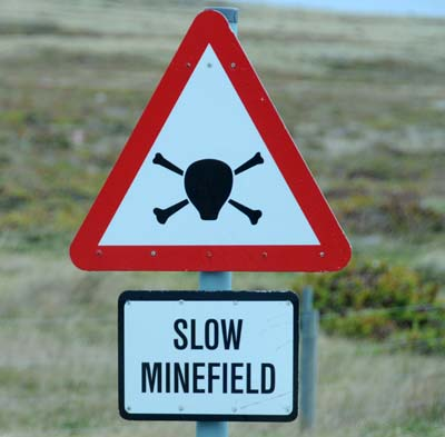 falkland islands, stanley minefields