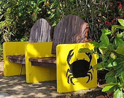 colombia, isla de providencia, benches