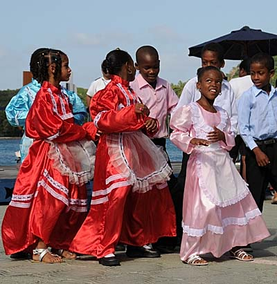 colombia, isla de providencia, dancers