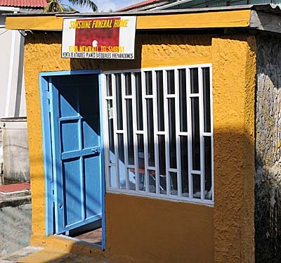 colombia, isla de providencia, funeral home