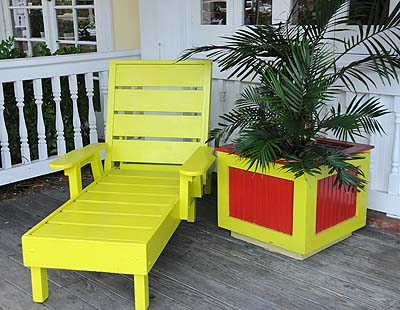 florida, key west, colorful chair on key west