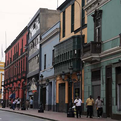 peru, lima, building fronts