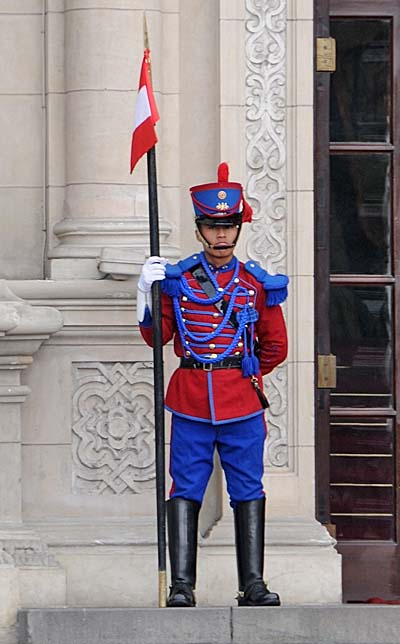 peru, lima, presidential palace guard