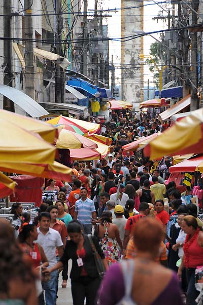 brazil, manaus, city streets