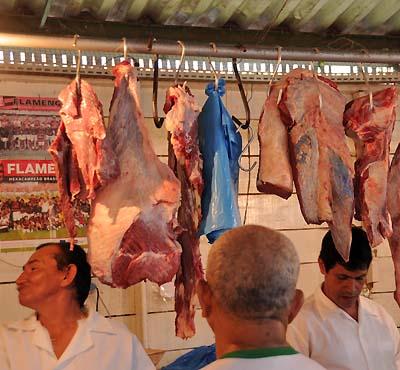 brazil, manaus, raw meat