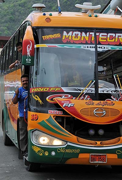 ecuador, manta, local bus