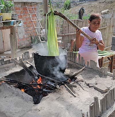 ecuador, manta, boiling the cactus