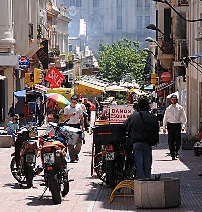 uruguay, montevideo, city streets