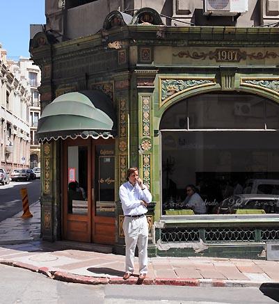 uruguay, montevideo, corner cafe