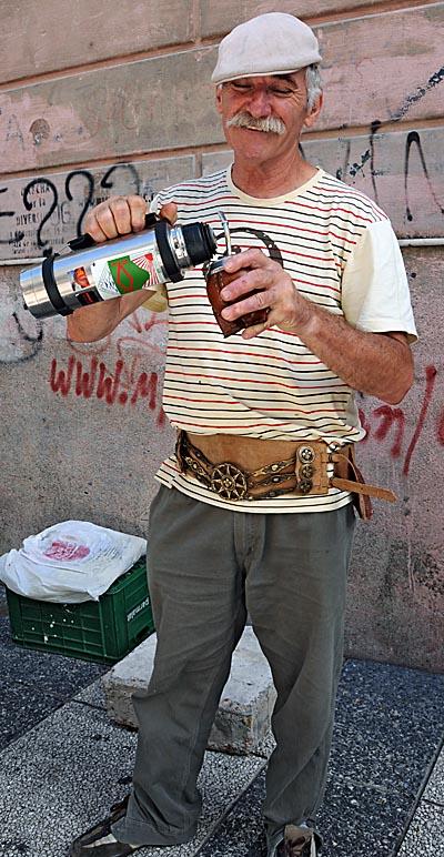 uruguay, montevideo, yerba mate drinker
