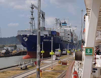 panama, panama canal, ship