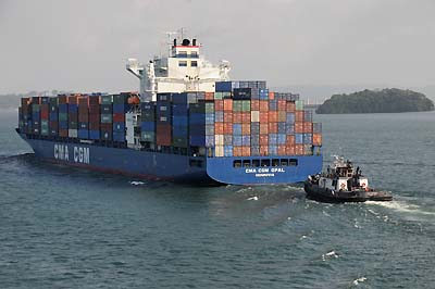 panama, panama canal, container ship