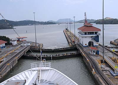 panama, panama canal, locks