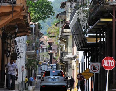 panama, panama city, street scene