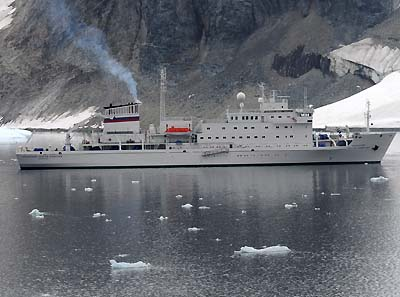 antarctic argentine tourist and supply boat