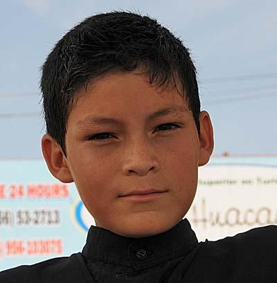 peru, paracas, little boy