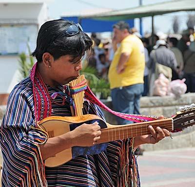 peru, paracas, street musicians