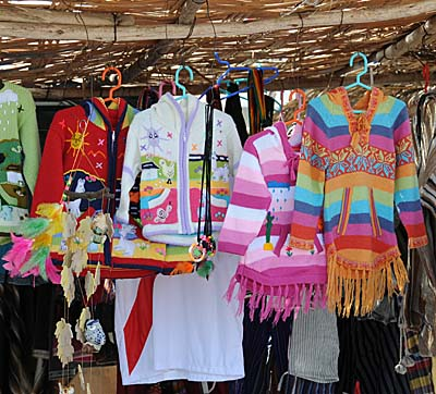 peru, paracas, colorful clothing