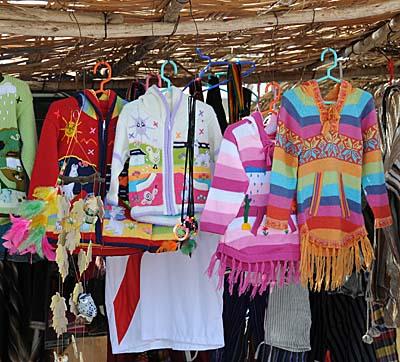 peru, paracas, colorful clothing