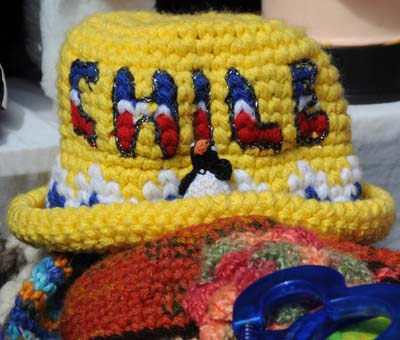 chile, punta arenas, colorful hats