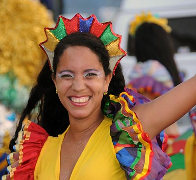 brazil, recife, carnival performers