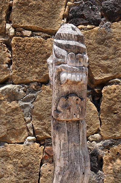brazil, recife, forte orange wood carvings