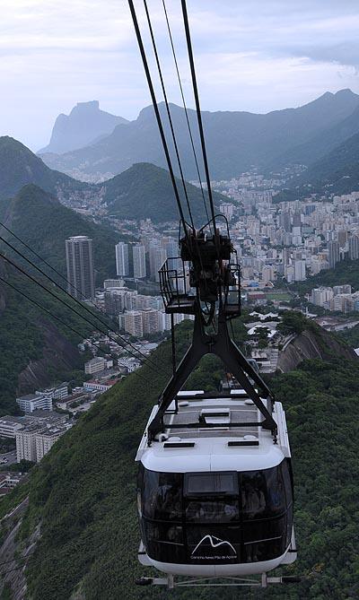 brazil, rio de janeiro, sugarloaf mountain cable cars