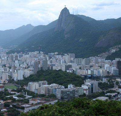 brazil, rio de janeiro, christ the redeemer skyline