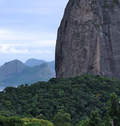 brazil, rio de janeiro, sugarloaf mountain terrain
