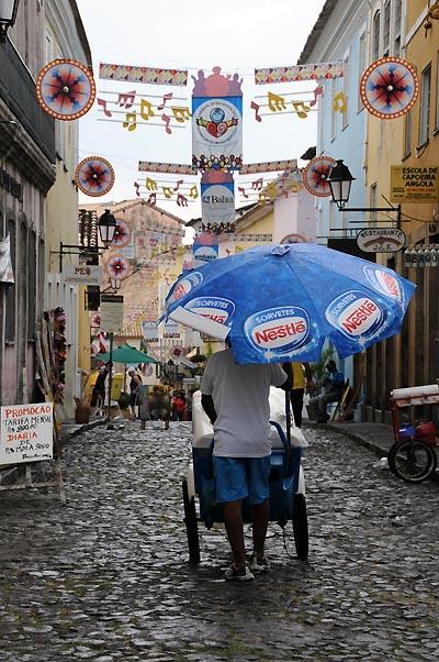 brazil, salvador, cidade alta historical district