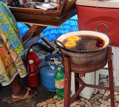 brazil, salvador, street food vendor