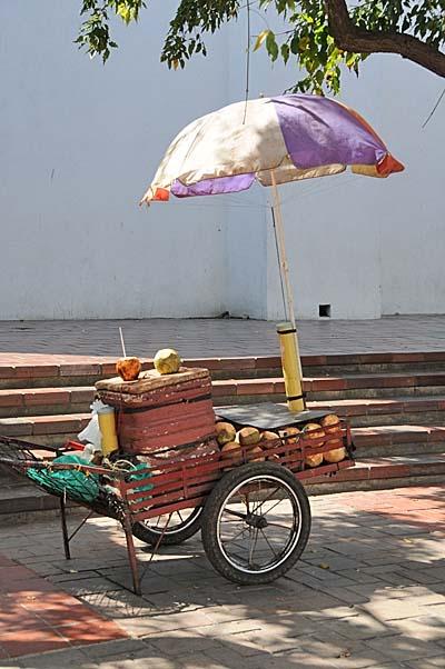 colombia, santa marta, street merchant cart