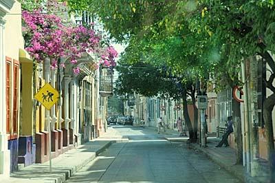 colombia, santa marta, city street