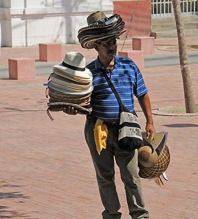 colombia, santa marta, hats for sale