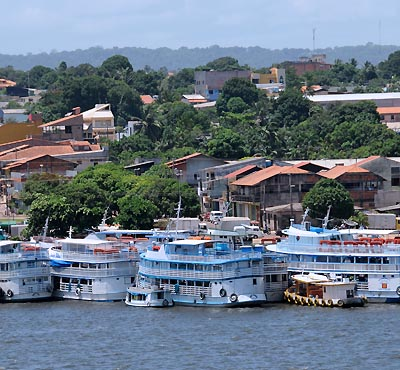 brazil, santarem, riverboats