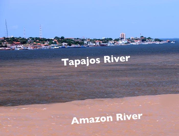 brazil, santarem, meeting of the waters, santarem river, amazon river