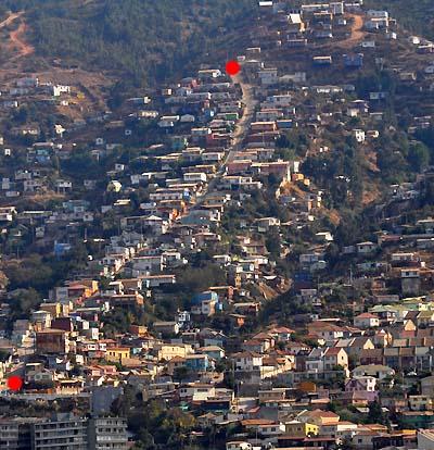 chile, valparaiso, neighborhood streets