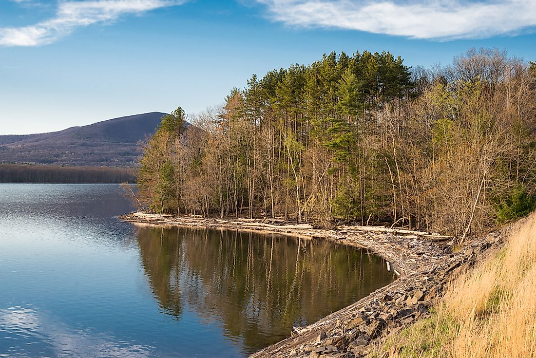 The Ashokan Reservoir, part of the NYC water supply.