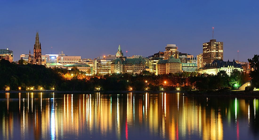 The skyline of Ottawa.