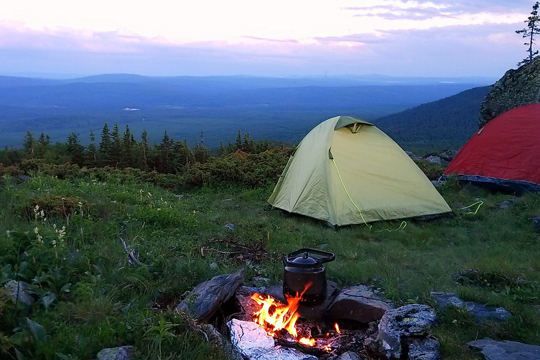 Something caused all nine hikers to flee their campsite in the Ural mountains.