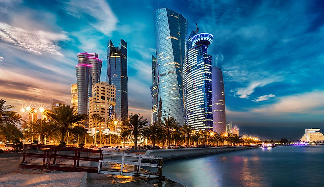 Doha, Qatar. Qatar is the world's richest country by GNI.